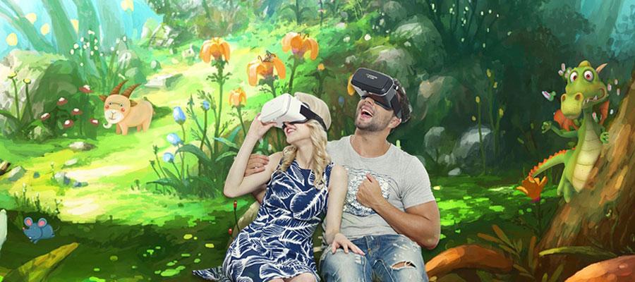 animation événementielle originale avec casque de réalité virtuelle